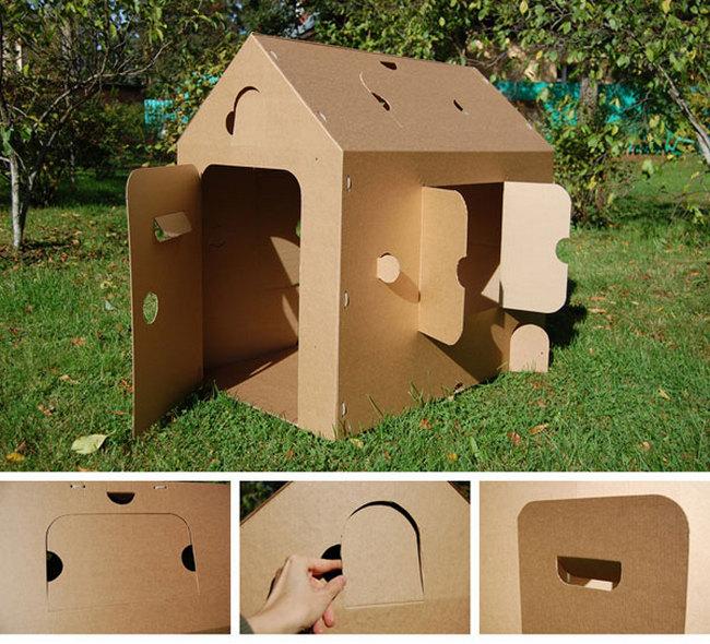 дом для собаки из коробки